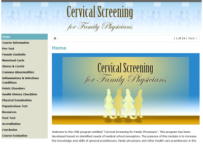 Online Course: Cervical Screening